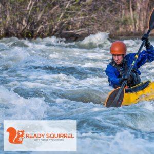 Man Kayaking Rough Water