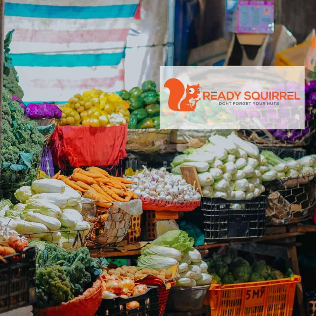 Vegetable Market with vege