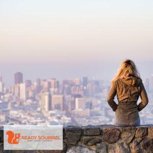 Woman on a skyline