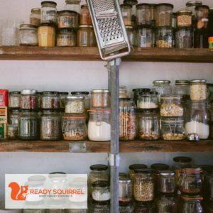 food pantry with jars