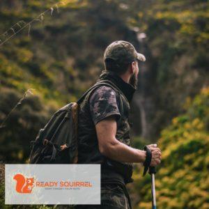 Hiker in tactical gear