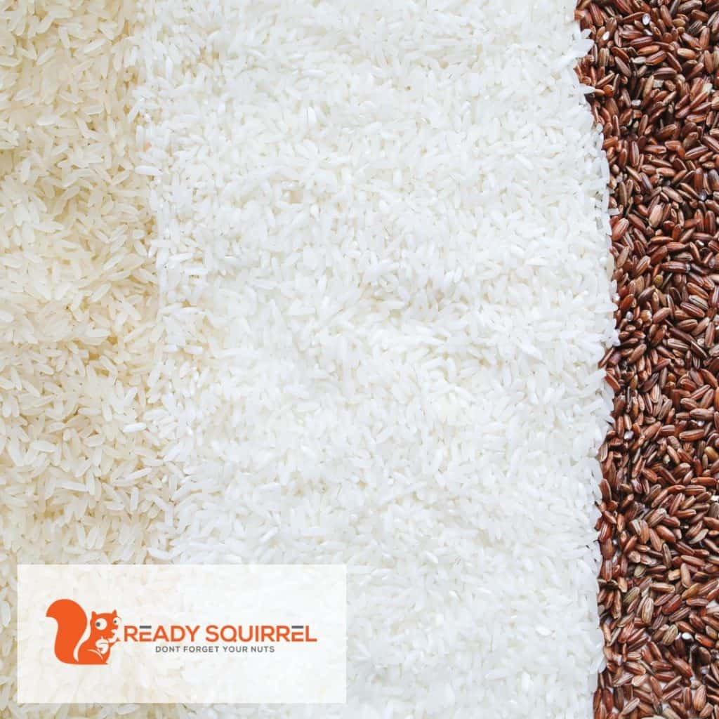 White and Brown Rices