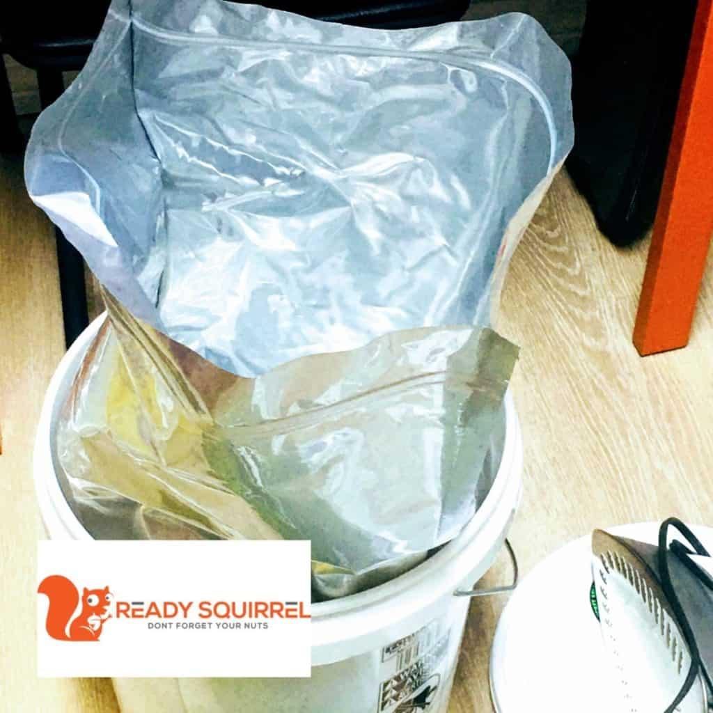 Food Grade Bucket, Mylar Bag, Hot Iron