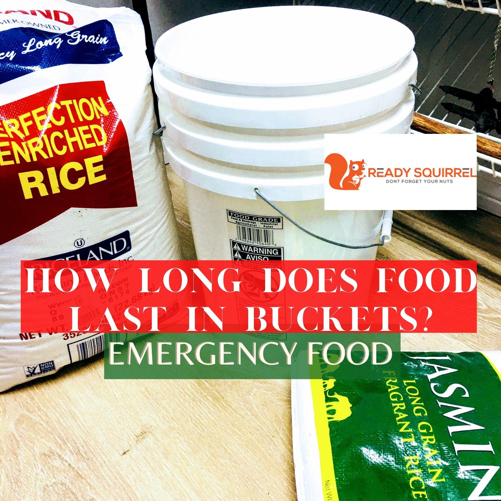 How Long Does Food Last in Food-grade Buckets?