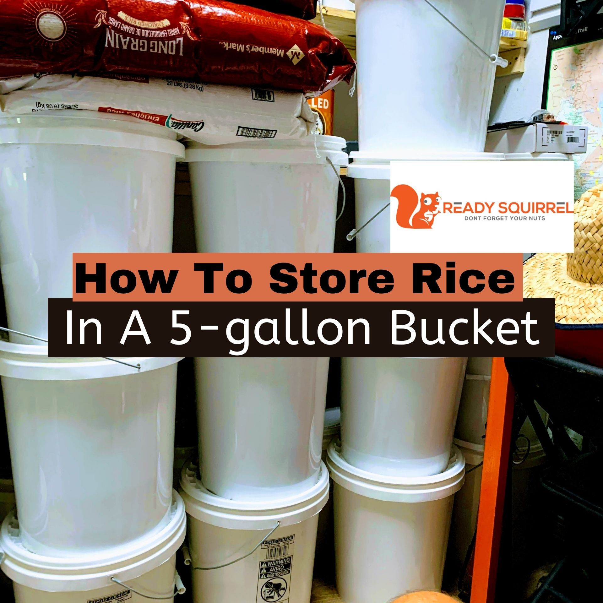 How To Store Rice In 5-gallon Buckets